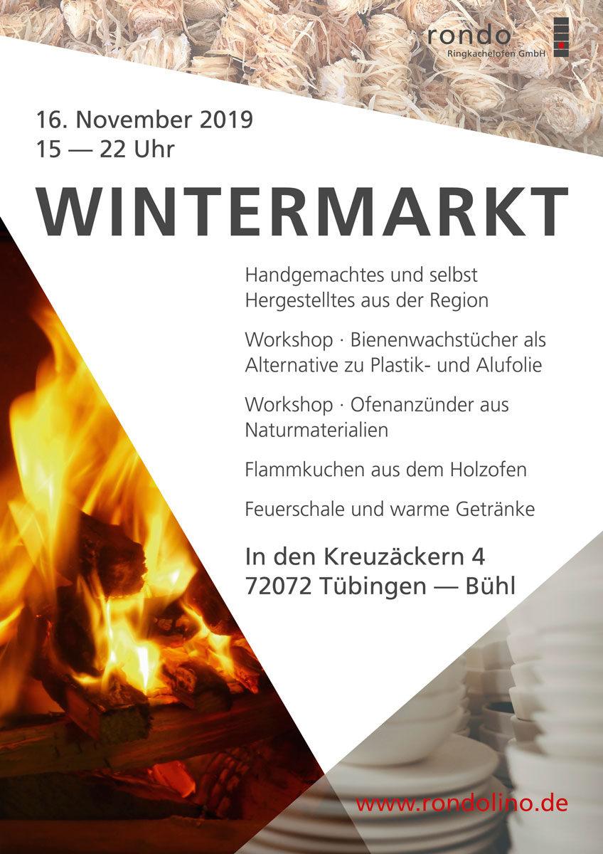 Plakat Wintermarkt Tübingen 2019