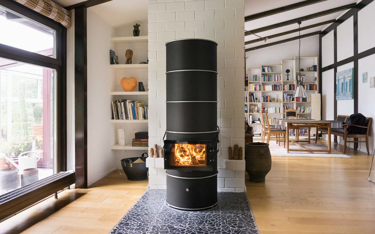 rondolino loft 177A schwarz · Speicherofen für große Räume